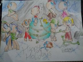 Happy Holidays Toad Patrol by CartoonCaster21