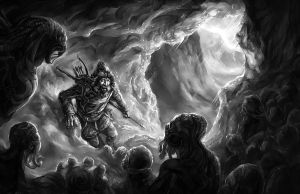 Cthulhu: Melting Ice Cave by Merlkir