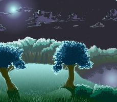 Night forest by Whit20e