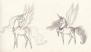 Pony princess sketches by ChloeNArt