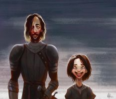 Arya and the Hound by Luca72