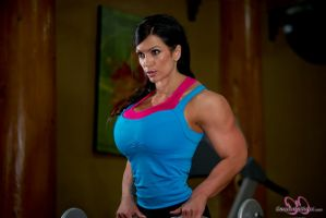 Buffed Denise Milani by IronShaq