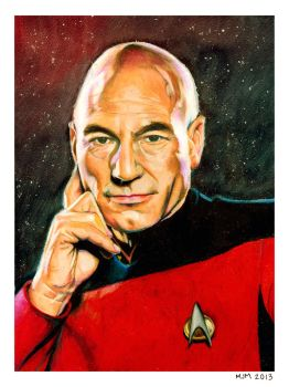 Captain Jean-Luc Picard by MicahJo
