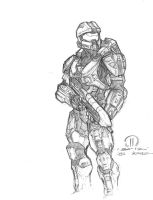 Master Chief pencils by JoeyVazquez