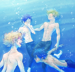 These Swimming Boys by SybLaTortue