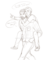 TLoU: Piggyback Ride .:W.I.P:. by Sky-the-Weirdo