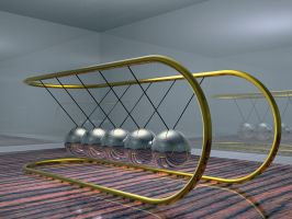 Newton's Cradle - fission1 by backgrounds
