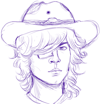 Carl Grimes Sketch by FlintTheWizard