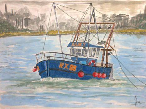 Fishing boat by AliceVII