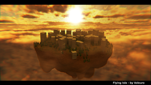 Flying city for xXArtimisXx by Voleuro