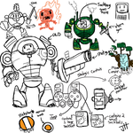 Mechinator Quest Doodles by T3hJake
