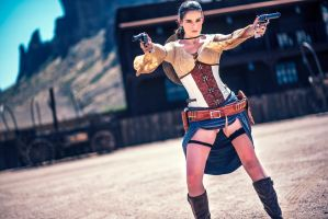 Wild West Lara Croft by joebbowers
