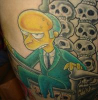 Mr Burns tattoo by xmaryxedgex