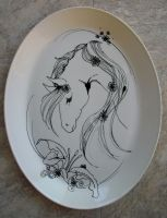 Hand Painted Horse Platter by animeangel07