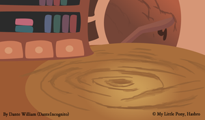 MLP - Background Test 1 - Twilight's Library by DanteIncognito