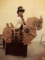 Steampunk Horse by MorghaneMestriaux