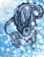 Vaporeon by michellescribbles