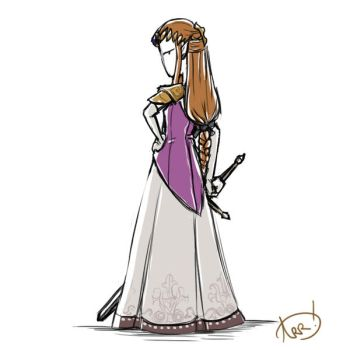 Drawing 28: Twilight Princess Zelda by GoldenAshTree