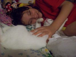 Me and my kitty by CHLI