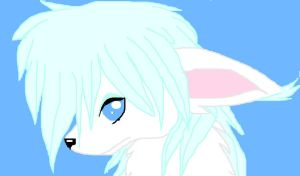 this is snow the artic fox by Ponyness1