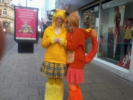 Pikachu and Charmander cosplay ^_^ by OtakuRhi
