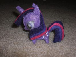 Mini Felt Twilight Sparkle Plushie by Bunnygirl2190