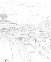 Cityscape Sketch by Dre788