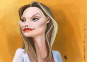 Michelle Pfeiffer - caricature by Manidiforbice