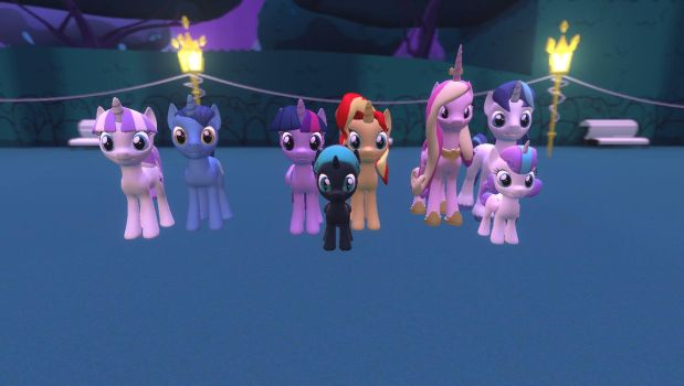 The Sparkle Family SunsetSparkle Version by Mk513