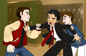Klaine Secret Santa-Back Off by katkitoshi
