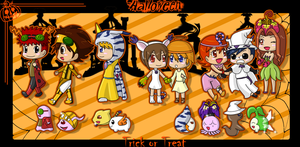 CE: Halloween in Digimon Style by L-mon