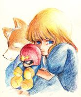 Kid Fox and Samus by s-azma
