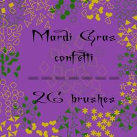 Mardi Gras confetti by rL-Brushes
