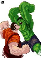 Ralph Smash vs Wreck-it Hulk by ElectroCereal