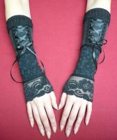 Steampunk corset gloves by Estylissimo
