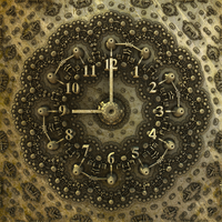 Mandelbulb3D - Clock (by heightmap) - with paras by matze2001