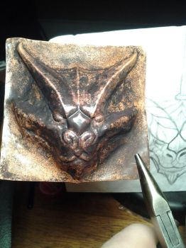 Copper Dragon - small WIP by CuSmith
