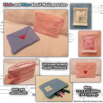 New Pink and blue Snail Mail Pouch by BlueDove415