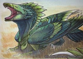 2012: ACEO Trade - Lutherah by kickingrabbit