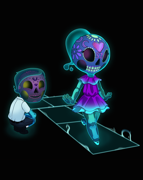 sugarSkull Kids by scribblepit