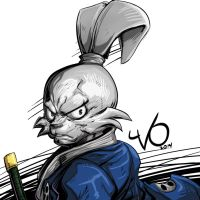 Digital Sketch Warm up  -18 Usagi Yojimbo by Vostalgic