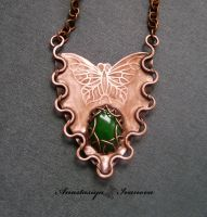 pendant with chrysoprase by nastya-iv83