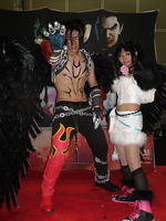 Devil Jin and Ling Xiaoyu by k0nfuwzdxkikai