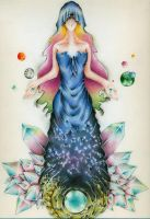 The Goddess of Time and Space by Zianel