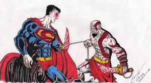 Kratos VS Superman by indianproxy