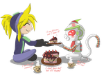 - Tea with cake? by Ly-sany