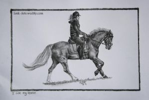 I ride my Horse - Finished by Lmk-Arts