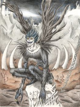 Ryuk in the Shinigami World, from Death Note. by pukipuki25