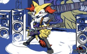 Rock on Like a Fire Fox by MetaDragonArt