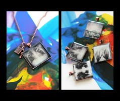 Illustration Pendant Necklaces by EmiNguyen